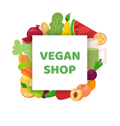vegan shop healthy food banner vector image