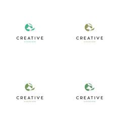 wolf leaf creative logo design vector image