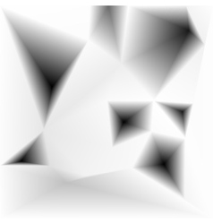 abstract triangular holes monochrome vector image