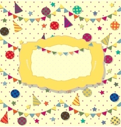 birthday celebration poster Ideal for club card vector image
