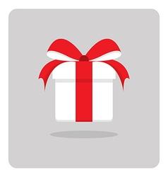 Flat icon white gift box vector