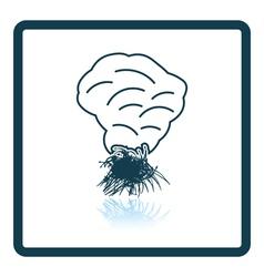 Sesonal grass burning icon vector image