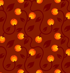 apple pattern red vector image vector image