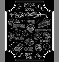 bakes and pastry vector image vector image