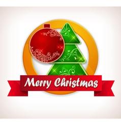 christmas lable vector image