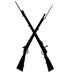 Historical military rifles vector image