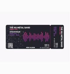 Music concert ticket vector