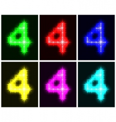 number 4 symbols vector image vector image