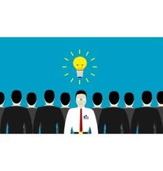 one in the crowd vector image vector image