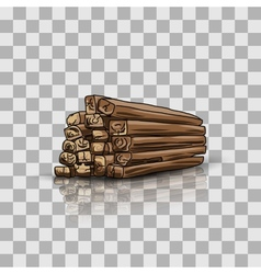 Wooden storage vector image vector image