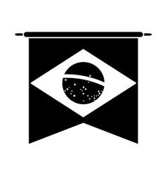 brasilian flag hanging symbol pictogram vector image