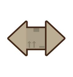 delivery box fragile icon vector image