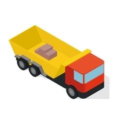 Isometric truck icon vector image