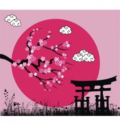 Japanese Sakura blossom vector image vector image