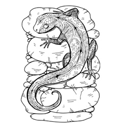 Lizard tropical vector image vector image
