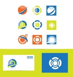 Logo design elements set vector image vector image