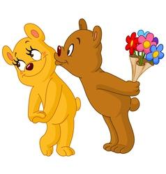 loving bears vector image vector image