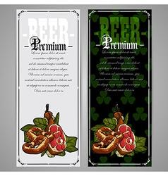 Premium beer document vector image