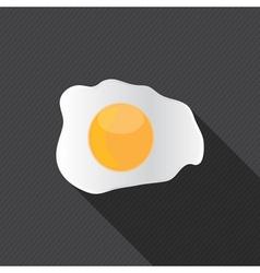 scrambled egg fried egg vector image vector image