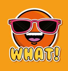 smile face pop art fashion patch badges vector image
