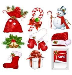 Traditional Christmas symbols vector image