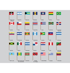 American countries flags vector image