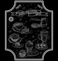 bakes coffee lettering vector image vector image