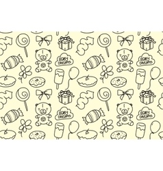 Children seamless texture Baby theme pattern with vector image