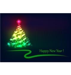 Christmas tree shining vector image vector image