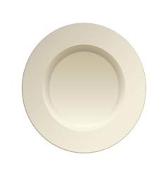 cream china plate vector image