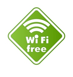 Free wifi and Internet sign with square border vector image