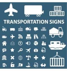 logistics shipping signs vector image vector image