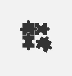 object of puzzle web line isolated icon vector image