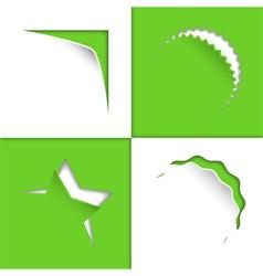Set of Various Shape Label Sticker vector image