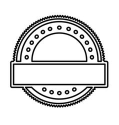 silhouette heraldic circular shape stamp with dots vector image vector image