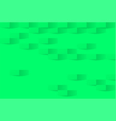 3d ufo green geometric background abstract ufo vector image