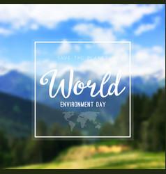 a world environment day vector image