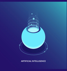 ai artificial intelligence or server room concept vector image