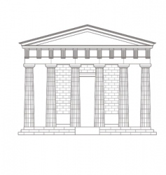 antiquities greek temple vector image