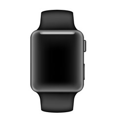 Apple smart watch mockup realistic black color vector