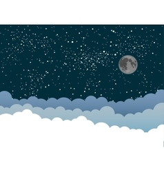 background Clouds Starry Sky Eps 10 vector image