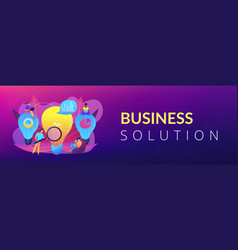 business solution concept banner header vector image