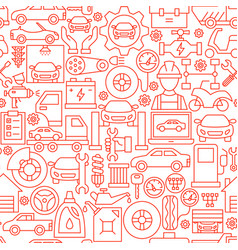 car service line seamless pattern vector image