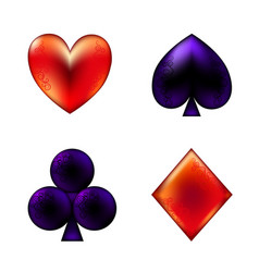 Card suits poker playing cards vector