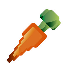 Carrot sweet vegetable vector