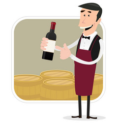 Cartoon winemaker vector