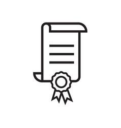 certificate icon graphic design template vector image