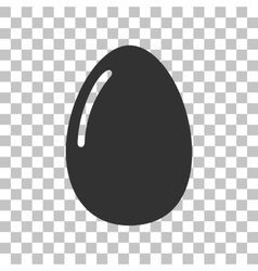Chiken egg sign Dark gray icon on transparent vector