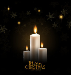 Christmas candle background vector