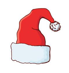 christmas hat santa hat vector image